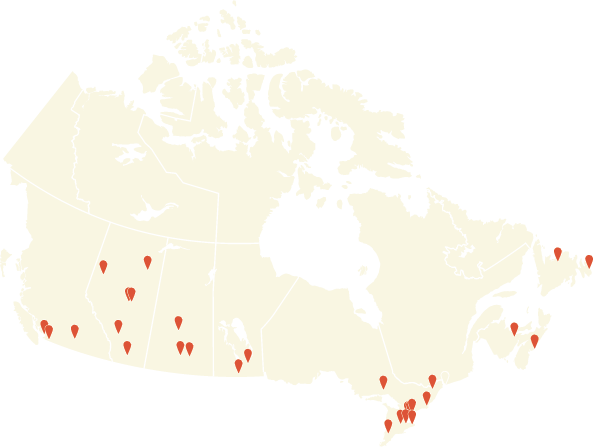 The Global Leadership Summit - Canada Map of Sites